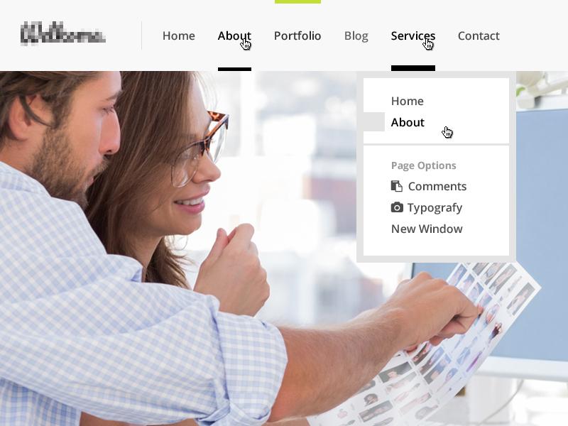 Header Menu header menu nav theme website site navigation ui pixelthrone design
