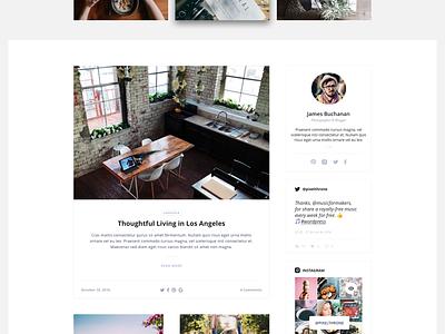 WordPress Blog & Shop Theme — Sneak Peek widgets pixelthrone white clean blog ui themeforest theme wordpress
