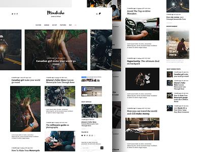 Moustache | Blog & Magazine Theme themeforest envato blogger site website simple clean pixelthrone theme magazine blog wordpress