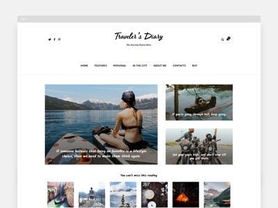 Moustache | Traveler's Diary Blog Theme themeforest envato blogger site website simple clean pixelthrone theme magazine blog wordpress