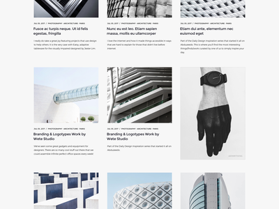 WordPress Magazine | Homepage Grid v1 blog theme envato themeforest pixelthrone freelance minimal clean homepage magazine wordpress website