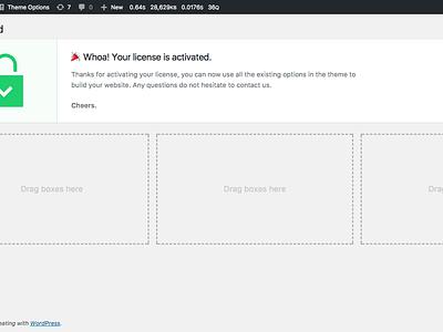 WordPress Theme — License Activation license registration theme envato themeforest pixelthrone freelance hack clean homepage activation wordpress website