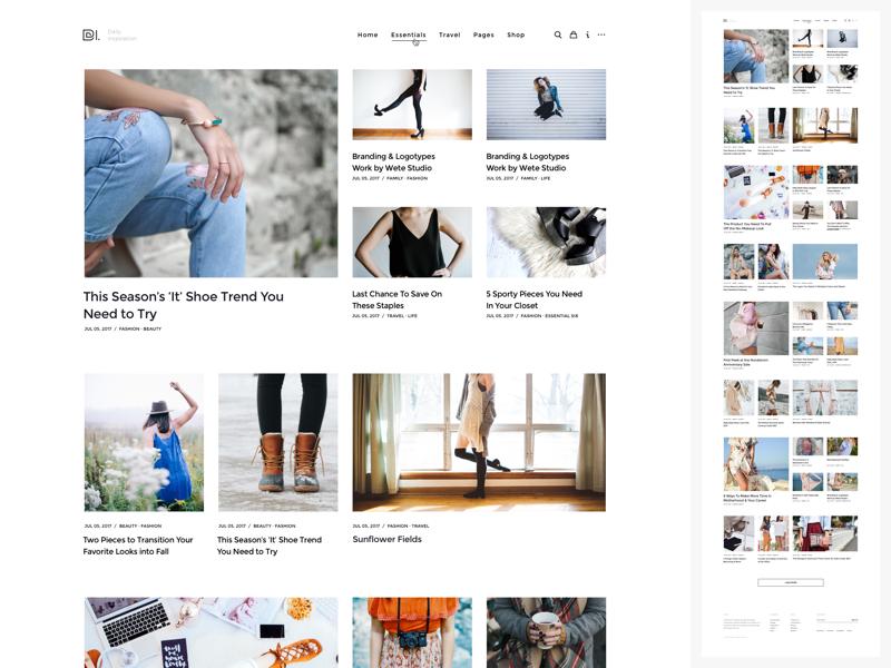 WordPress Magazine | Homepage Grid v3 blog theme envato themeforest pixelthrone freelance minimal clean homepage magazine wordpress website