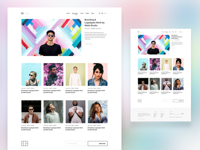 WordPress Magazine | Homepage Grid v4 website wordpress magazine homepage clean minimal freelance pixelthrone themeforest envato theme blog