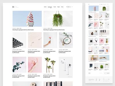 WordPress Magazine | Homepage Grid v5 blog theme envato themeforest pixelthrone freelance minimal clean homepage magazine wordpress website