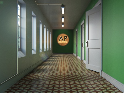 (fictional) Offices of Alex Perez Designs virtual office office space environmental design environment design 3d modeling 3d artist 3d art