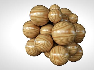 Wooden Spheres texture wood spheres abstract concept design 3d modeling 3d artist 3d art
