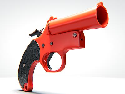 Flare Gun fortnite flare gun props concept design 3d modeling 3d artist 3d art