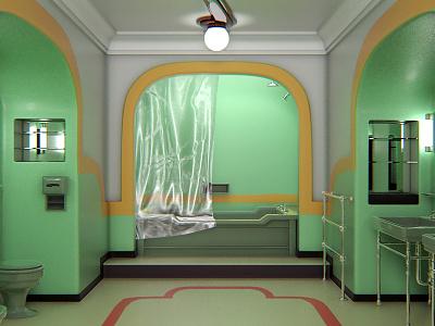 Bathroom 237 bathroom the overlook hotel horror the shining stephen king environmental design environment concept design 3d modeling 3d artist 3d art