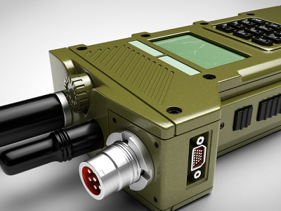 Military Radio texture uv military props design 3d modeling 3d artist 3d art