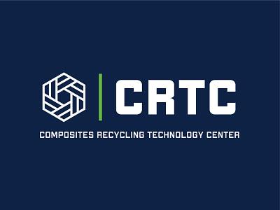 Composites Recycling Technology Center Logo carbon carbon fiber recycle vector branding logo
