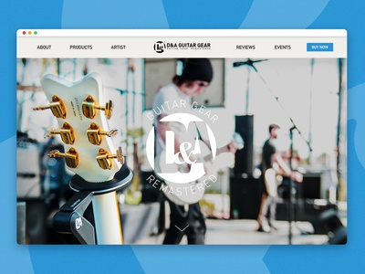 Guitar Gear Website Design design guitars website design music guitarist guitar website ui