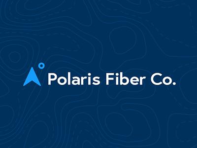 Polaris Fiber Co. Logo cable fiber optic northwest icon topographic map north north star branding minimal logo design vector
