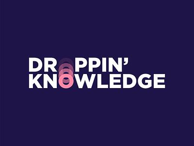 Droppin' Knowledge Logo logo mark motion movement clean simple logo logo design knowledge ball drop icon branding minimal design logo vector