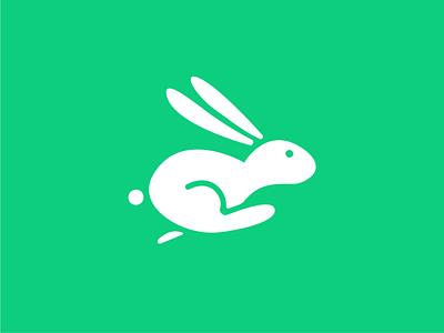 Rabbit Logo clean design simple logo green bunny logo bunny rabbits rabbit logo rabbit logo design branding minimal logo icon design vector
