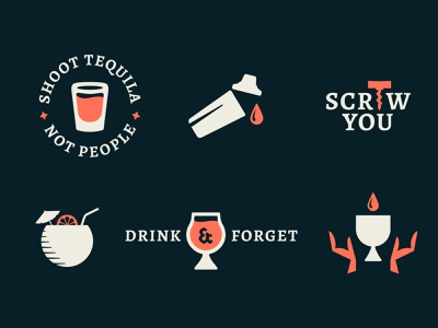 Pandemic Drinking funny cocktails tequila drinking vector illustration icon design minimal spirits wine pandemic booze alcohol drinks