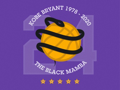 Kobe Bryant Tribute snake basketball vector illustration design kobe kobe bryant