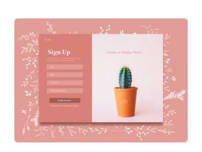 Daily UI Day 1 - Sign Up Page uidesign sign up page dailyuichallenge daily ui monochromatic