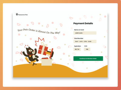 Daily UI-2 Credit Card Details uidesign ui design daily ui bright color dailyuichallenge