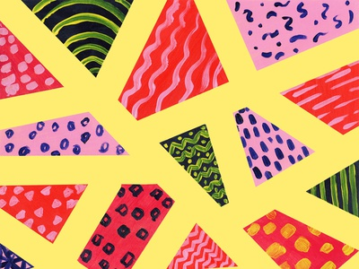 [6/100] Random shapes painted pattern doodleart abstract acrylic paint randompattern acrylic patterndesign surfacepattern staycreative patternoftheday 100dayproject2019 100dayproject the100dayproject2019 the100dayproject 100dayofpattern