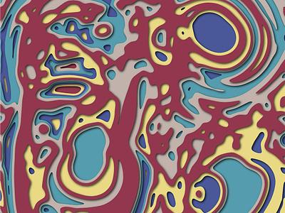 [7/100] Papercut style cut out paper art graphicdesign depth vectorart papercut patternoftheday staycreative pattern surfacepattern patterndesign the100dayproject2019 100dayproject the100dayproject 100dayofpattern