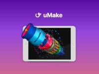 uMake - 3D modeling app
