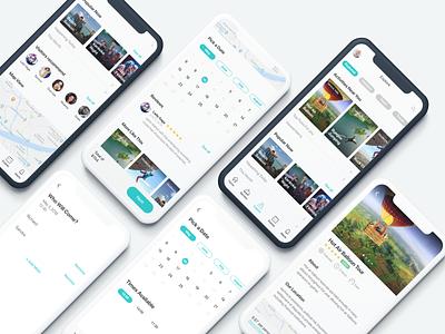 Explore Near Me app ux illustration ui web design ui design uiux product design mobile