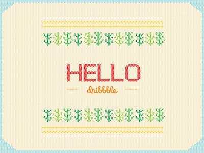 Hello Dribbble ✨