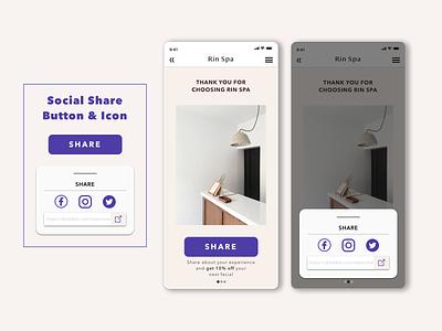 Social Share Button/Icon webdesign dailyui010 app design dailyui appdesign