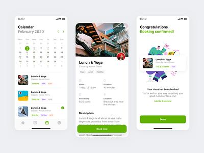 Good Mood Dudes bookings calendar wellbeing wellness healthcare app mobile minimal clean simple ux ui