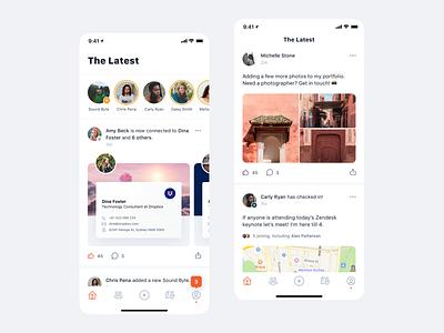 Pappyon social social network feed app mobile minimal clean simple ux ui