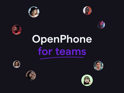 OpenPhone for teams mobile animation motion design