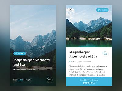 Travel app freelance commerce countdown mobile iphone travel ui