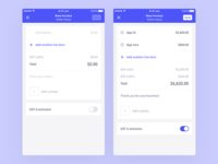 Project Management App - Create Invoice