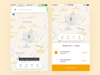 Location-Based Insurance App - Home Screen