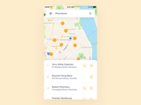 Location-Based Insurance App - Search Screen