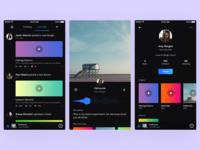 Music App Concepts - Dark Version