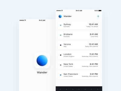 Wander - Beautiful World Time App