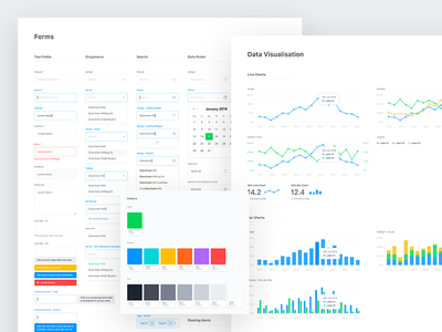 Style Guide charts forms data style guide web app minimal simple web ux ui