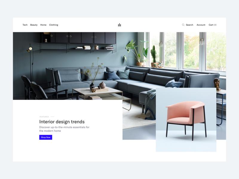 eCommerce Project - Landing Page ecommerce store shop web minimal clean simple ux ui