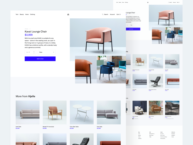 eCommerce Project - Product Details shop store ecommerce web minimal clean simple ux ui
