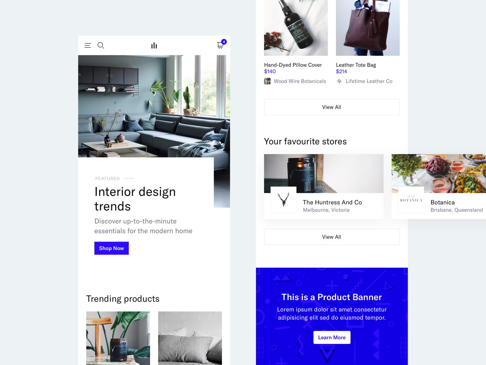 eCommerce Project - Mobile Landing Page store shop ecommerce mobile web mobile web minimal clean simple ux ui