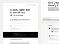 Web Design Weekly Redesign