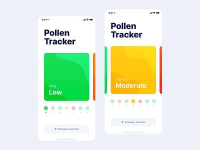 Pollen Tracker typography pollen ios app mobile minimal clean simple ux ui