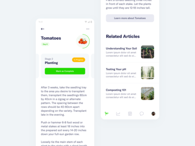 FarmSmart – Crop Details articles management farming android app mobile minimal clean simple ux ui
