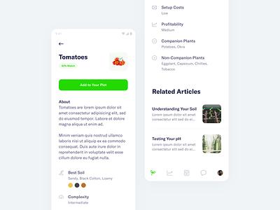FarmSmart – Crop Details details management farming app mobile minimal clean simple ux ui