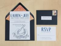 Roller-skate Wedding Invites