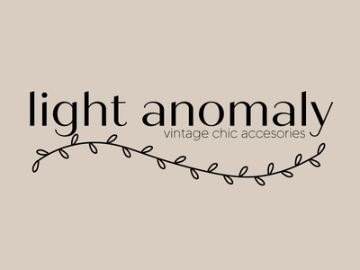 light anonmaly accesories feminine vintage minimal design logo branding graphic design
