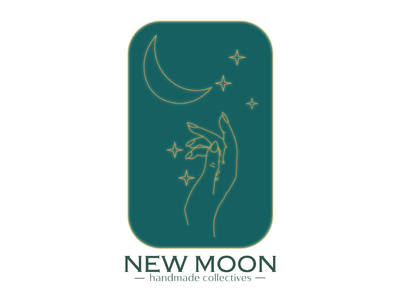 New Moon Collectives feminine moon collectives illustration minimal design logo branding graphic design