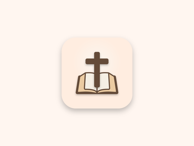 The Bible Reader   App Icon app icon app branding icon illustration graphic design design